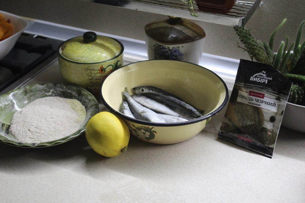 Фото рецепта - Жареная салака с лимоном - шаг 1