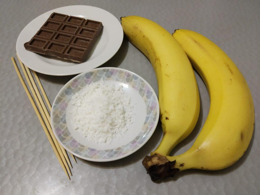 Фото рецепта - Бананы в молочном шоколаде - шаг 1