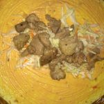 Фото рецепта - Шаурма в тартилье с мясом и овощами - шаг 4