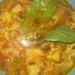 Фото рецепта - Борщ красный с салом и чесноком - шаг 6