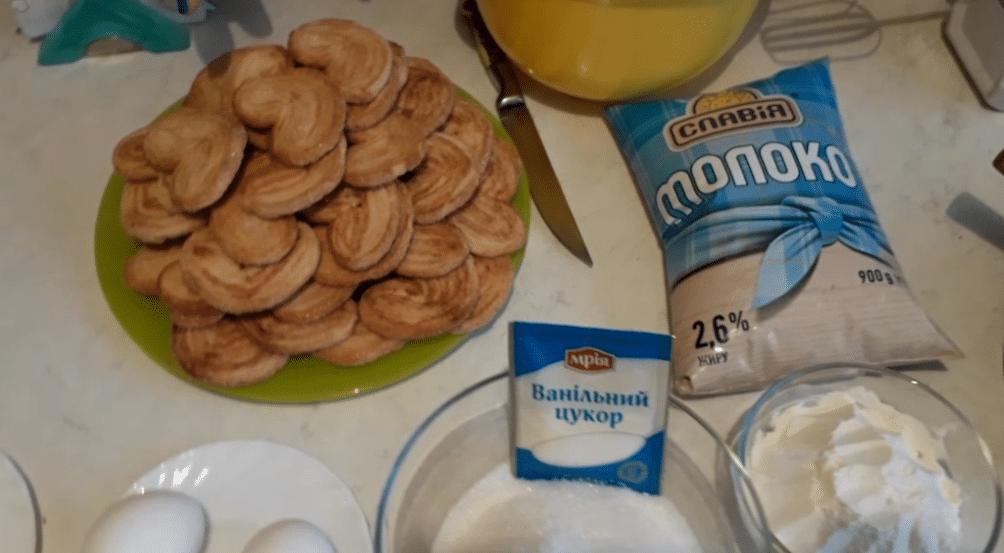 """Фото рецепта - Торт """"Наполеон"""" из слоеного печенья с заварным кремом - шаг 1"""