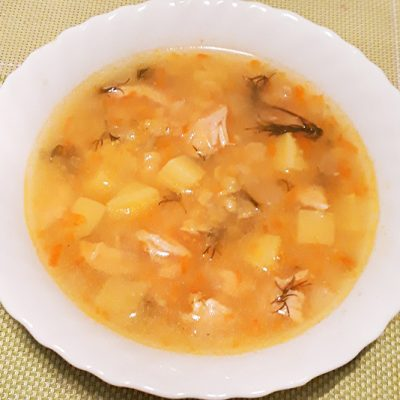 Гороховый суп на курице - рецепт с фото