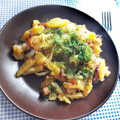Жареный картофель с мясом, как у Бабушки - рецепт с фото