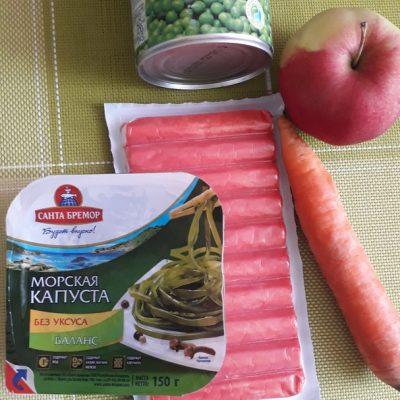 Фото рецепта - Салат «Морской бриз» с крабовым мясом - шаг 1