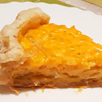 Заливной яично-луковый пирог - рецепт с фото