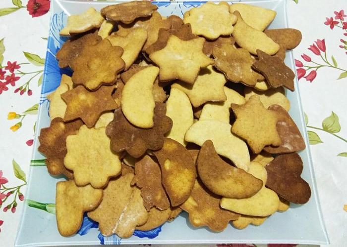 Домашние сладкие крекеры из песочного теста