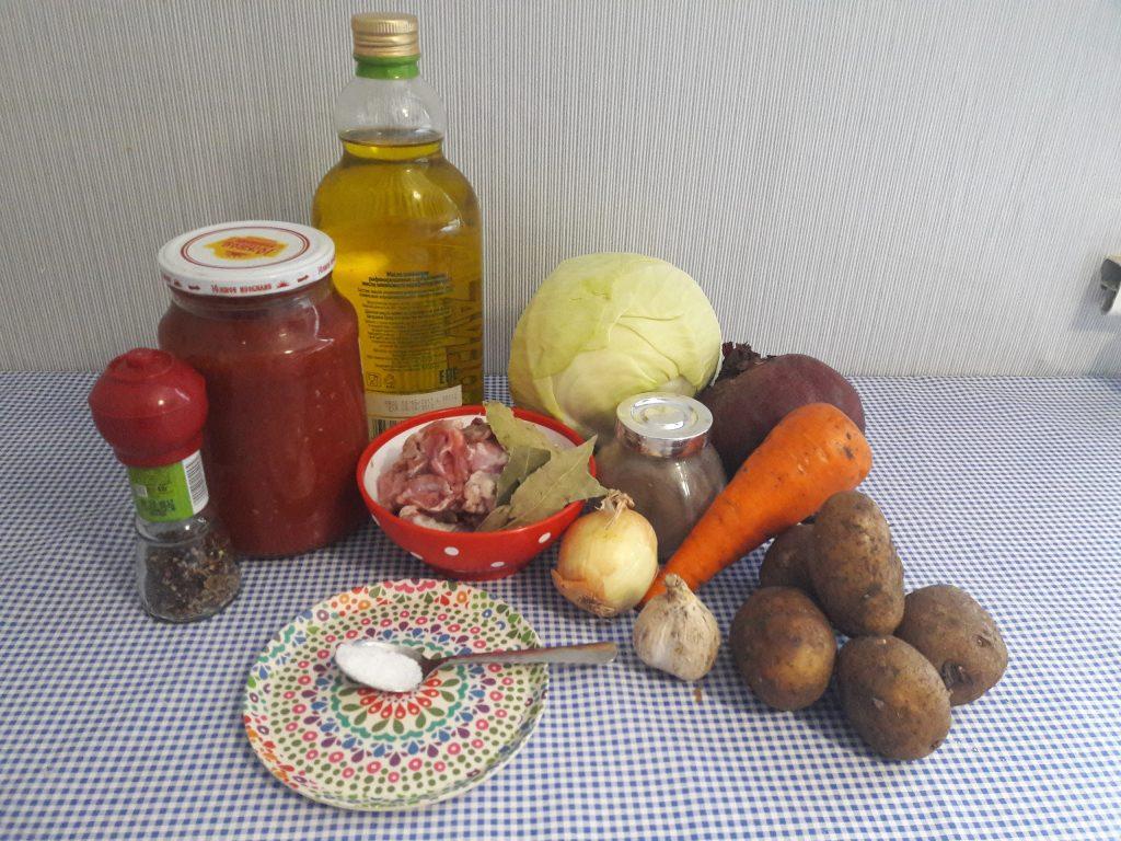 Фото рецепта - Любимый всеми борщ со свининой - шаг 1