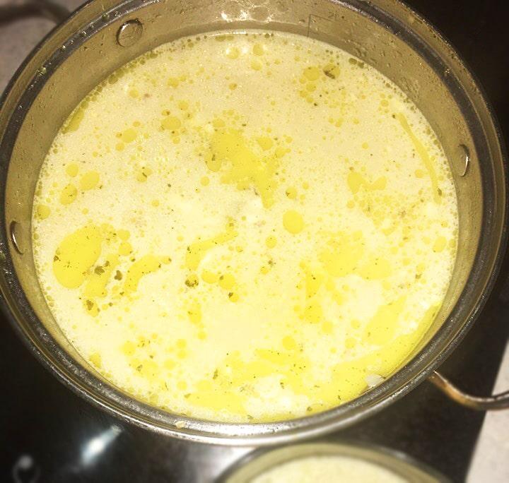 Гречнево-сырный суп
