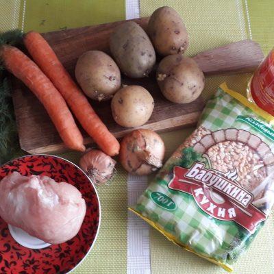 Фото рецепта - Гороховый суп на курице - шаг 1