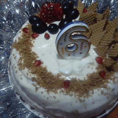 Бисквитный торт в мультиварке - рецепт с фото