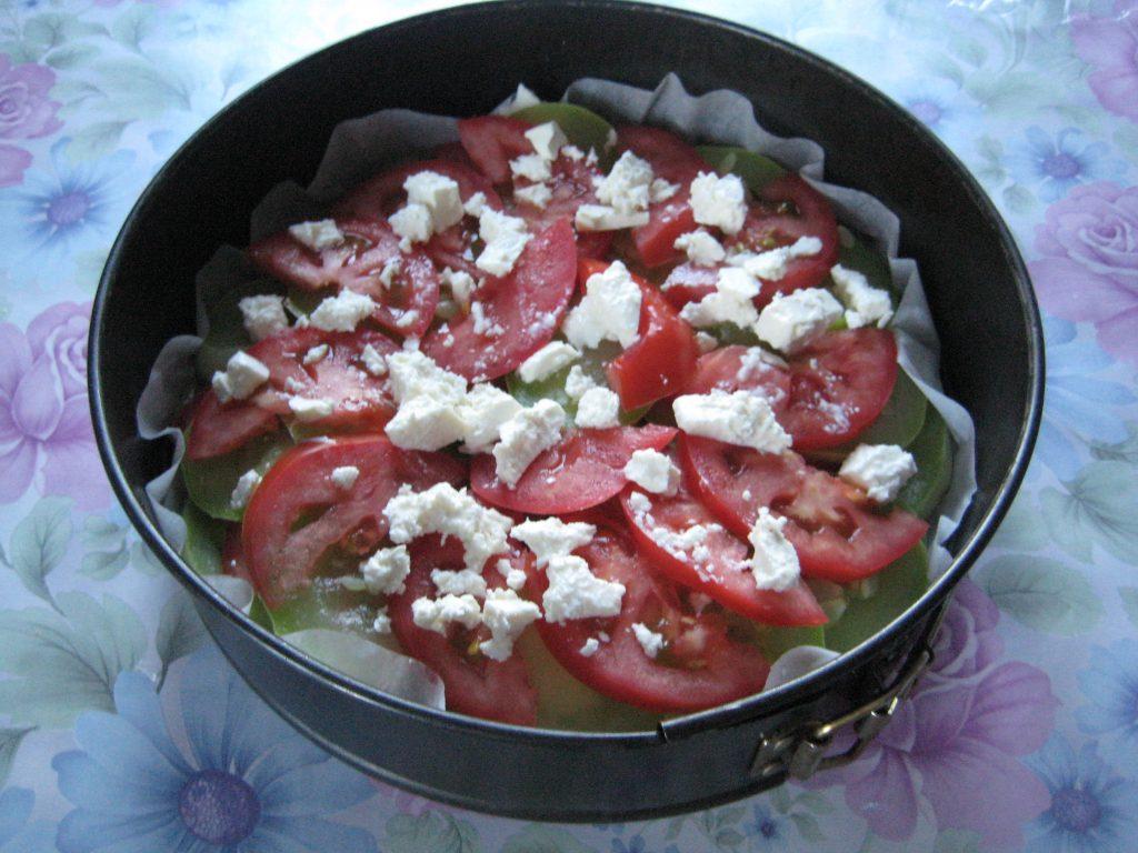 Фото рецепта - Запеканка из кабачков с сыром и помидорами - шаг 4