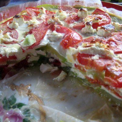 Фото рецепта - Запеканка из кабачков с сыром и помидорами - шаг 6