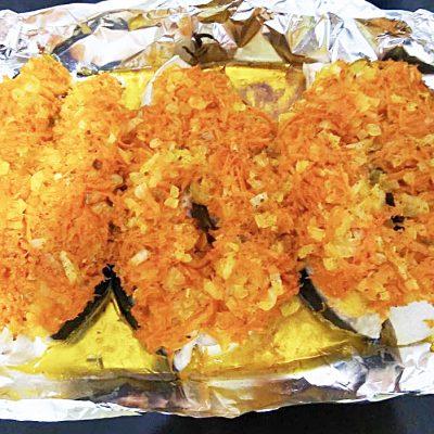 Семга с овощами в духовке - рецепт с фото