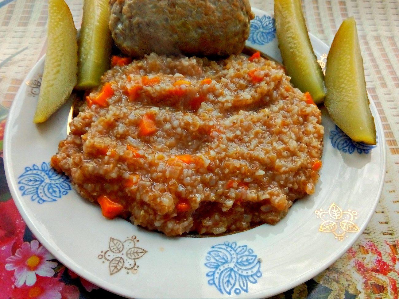Пшеничная каша в сковороде (гарнир)