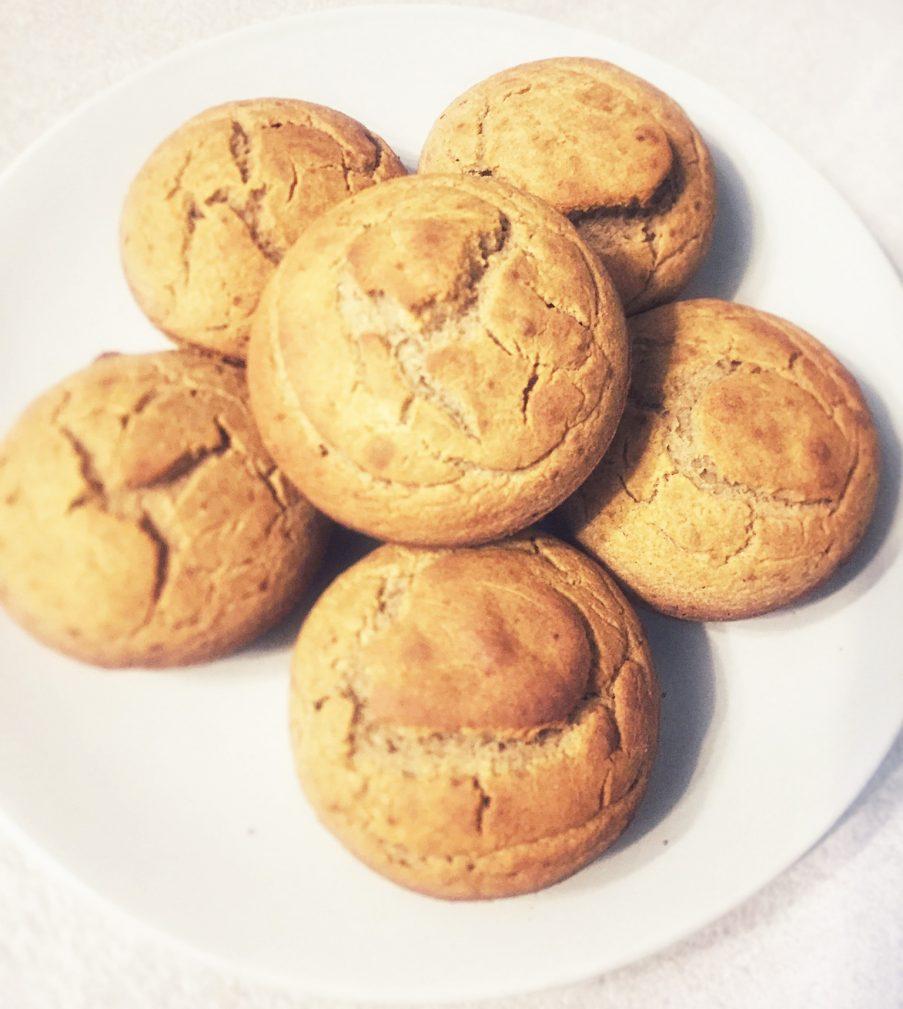 Фото рецепта - Постные апельсиновые кексы из зеленой гречи - шаг 5