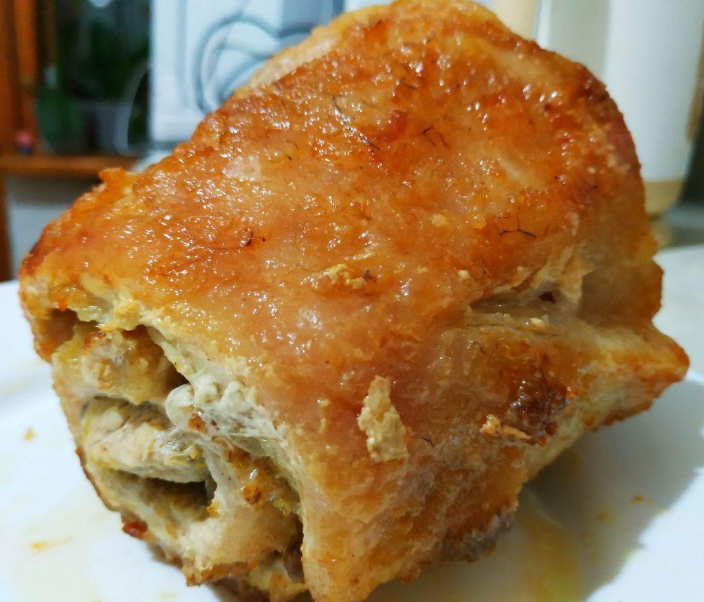 Фото рецепта - Рулет из сала с куриным филе - шаг 5