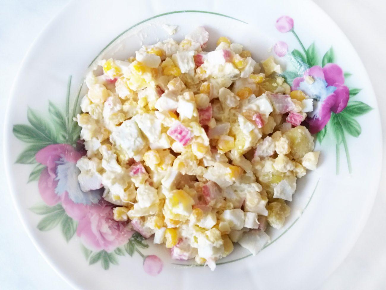 "Салат ""Крабик"" с кукурузой"