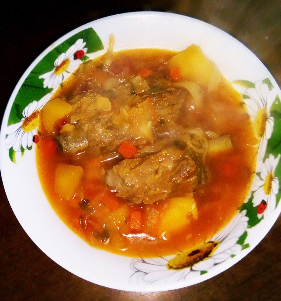 Фото рецепта - Борщ классический украинский со свининой - шаг 7
