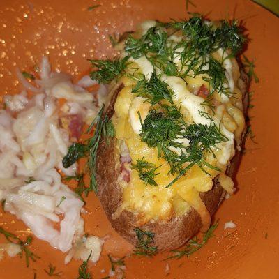 Фото рецепта - Фаршированная картошка, запеченная в духовке - шаг 5