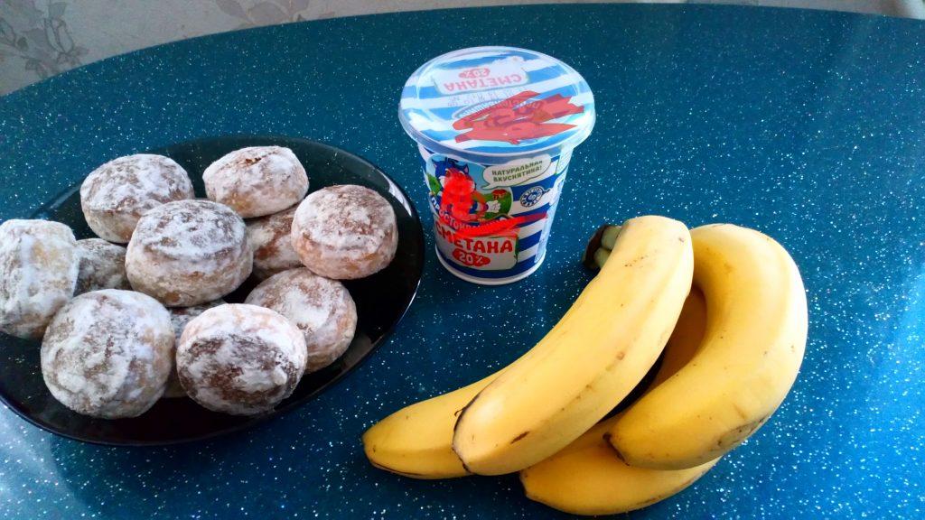 Фото рецепта - Торт из бананов и пряников без выпечки - шаг 1