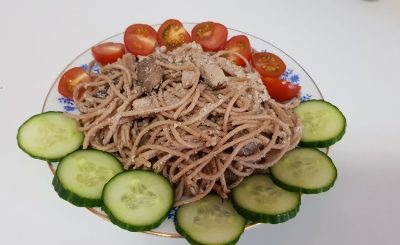 Паста с курицей, грибами и грецкими орехами - рецепт с фото