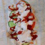 Фото рецепта - Вкусная шаурма с курицей и острым соусом - шаг 5