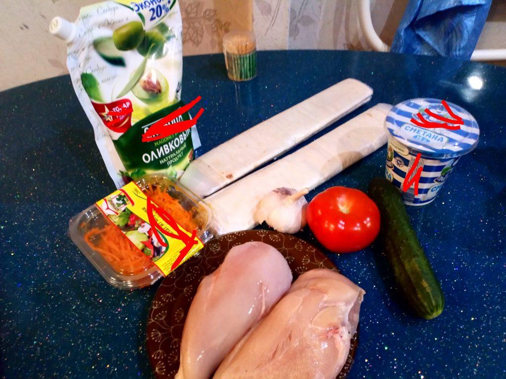 Фото рецепта - Вкусная шаурма с курицей и острым соусом - шаг 1