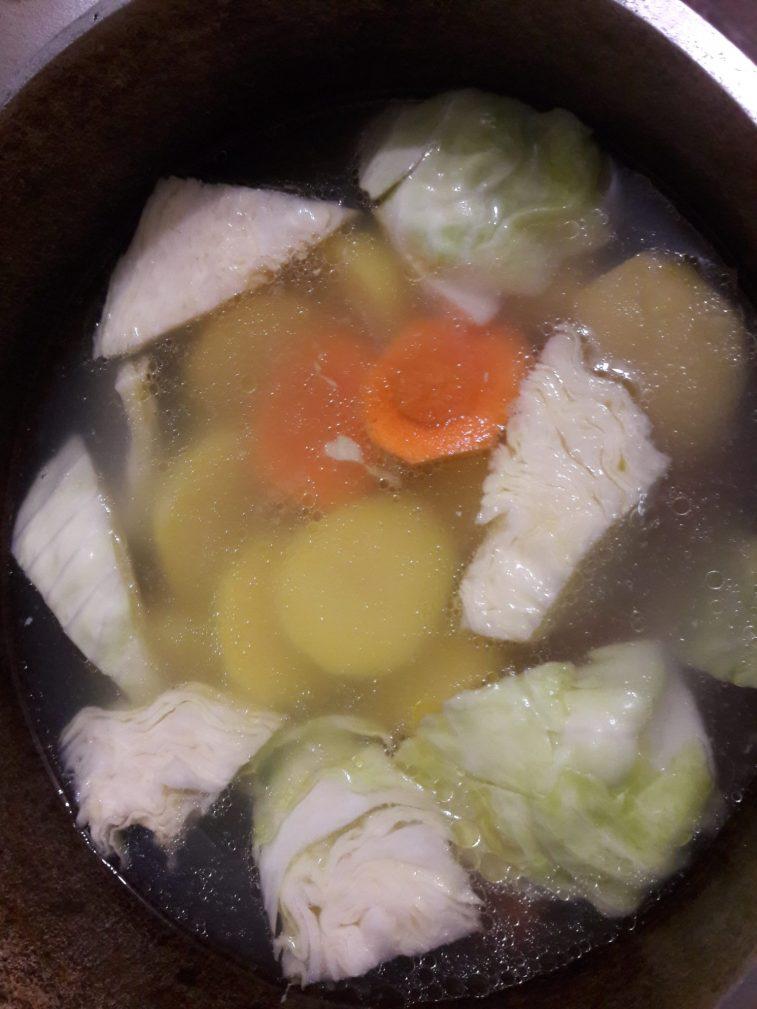 Фото рецепта - Башкирский элеш с курицей и овощами - шаг 3