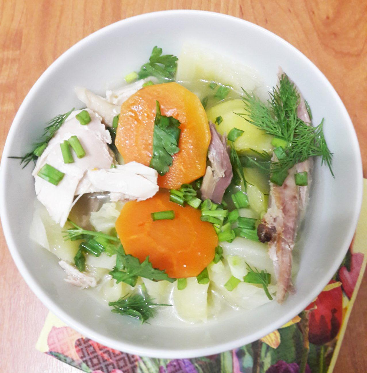 Башкирский элеш с курицей и овощами