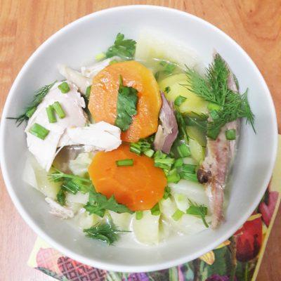 Башкирский элеш с курицей и овощами - рецепт с фото