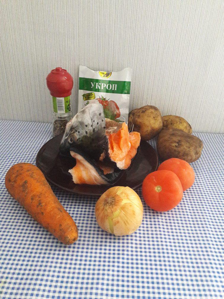 Фото рецепта - Уха из семги с овощами - шаг 1