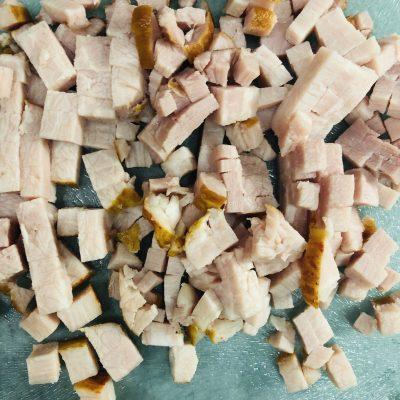Фото рецепта - Блинчики на молоке, с сыром и ветчиной - шаг 3