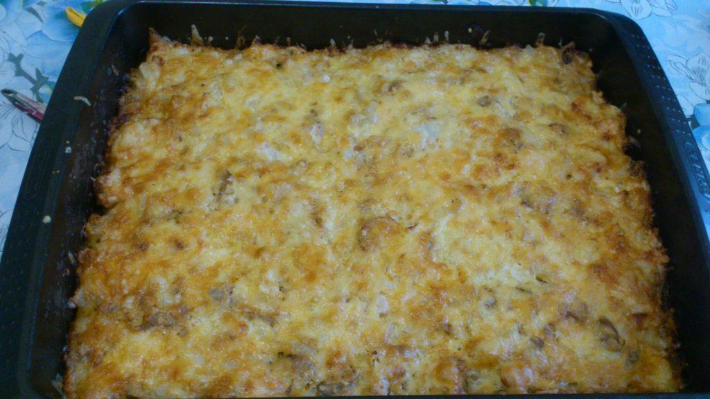 Фото рецепта - Картофельная запеканка по-деревенски с курицей и грибами - шаг 5