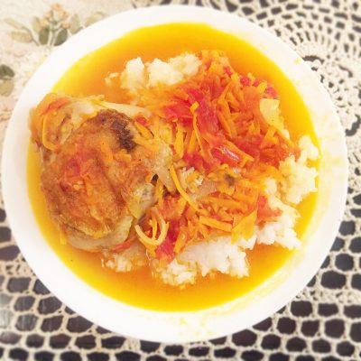 Вкусная подлива из курицы и овощей к рису - рецепт с фото