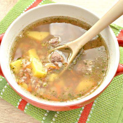 Гречневый суп с мясными фрикадельками - рецепт с фото