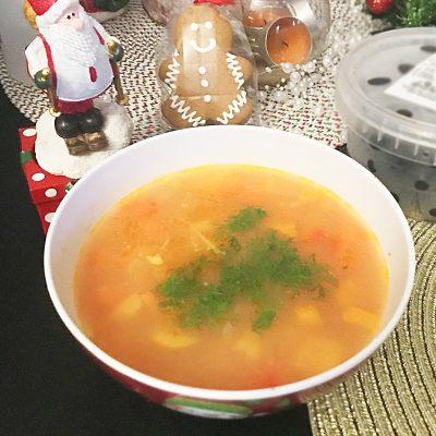 Овощной суп с макаронами - рецепт с фото