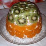Тортик без выпечки «Экзотика» с бананами и цитрусами