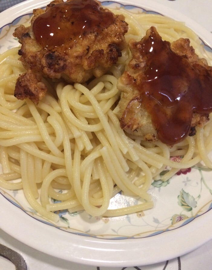Фото рецепта - Рубленные котлетки из филе индейки со спагетти - шаг 5