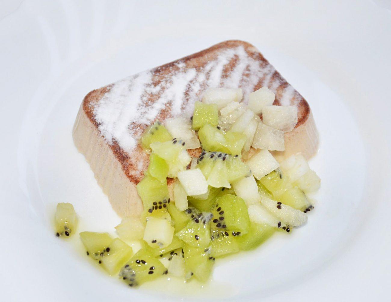 Сливочное желе c фруктами