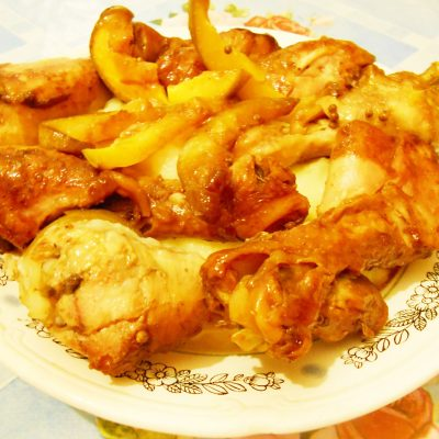 Куриные голени в соевом соусе с манго, запечённые в рукаве - рецепт с фото