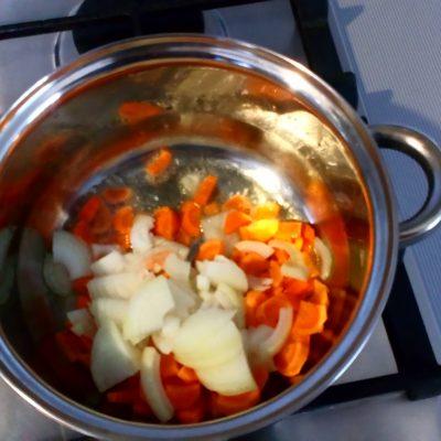 Фото рецепта - Вкусный сырный суп-пюре с ветчиной - шаг 2
