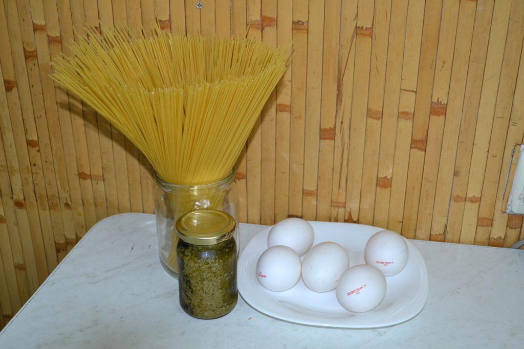 Фото рецепта - Спагеттини с соусом Песто - шаг 1