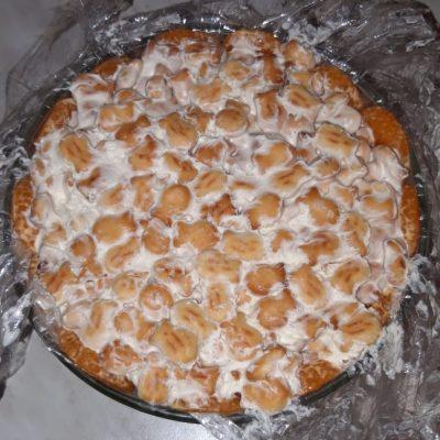 """Фото рецепта - Тортик без выпечки """"Экзотика"""" с бананами и цитрусами - шаг 12"""