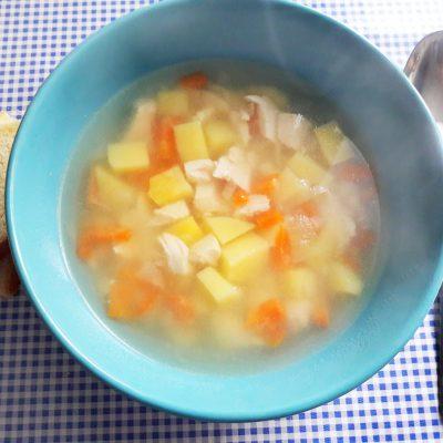 Легкий куриный супчик с овощами и макаронами - рецепт с фото