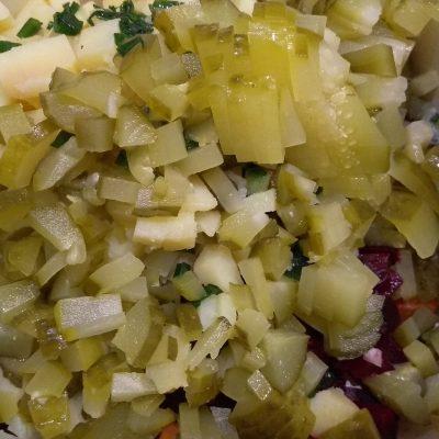 Фото рецепта - Диетический винегрет с сыром фета - шаг 4