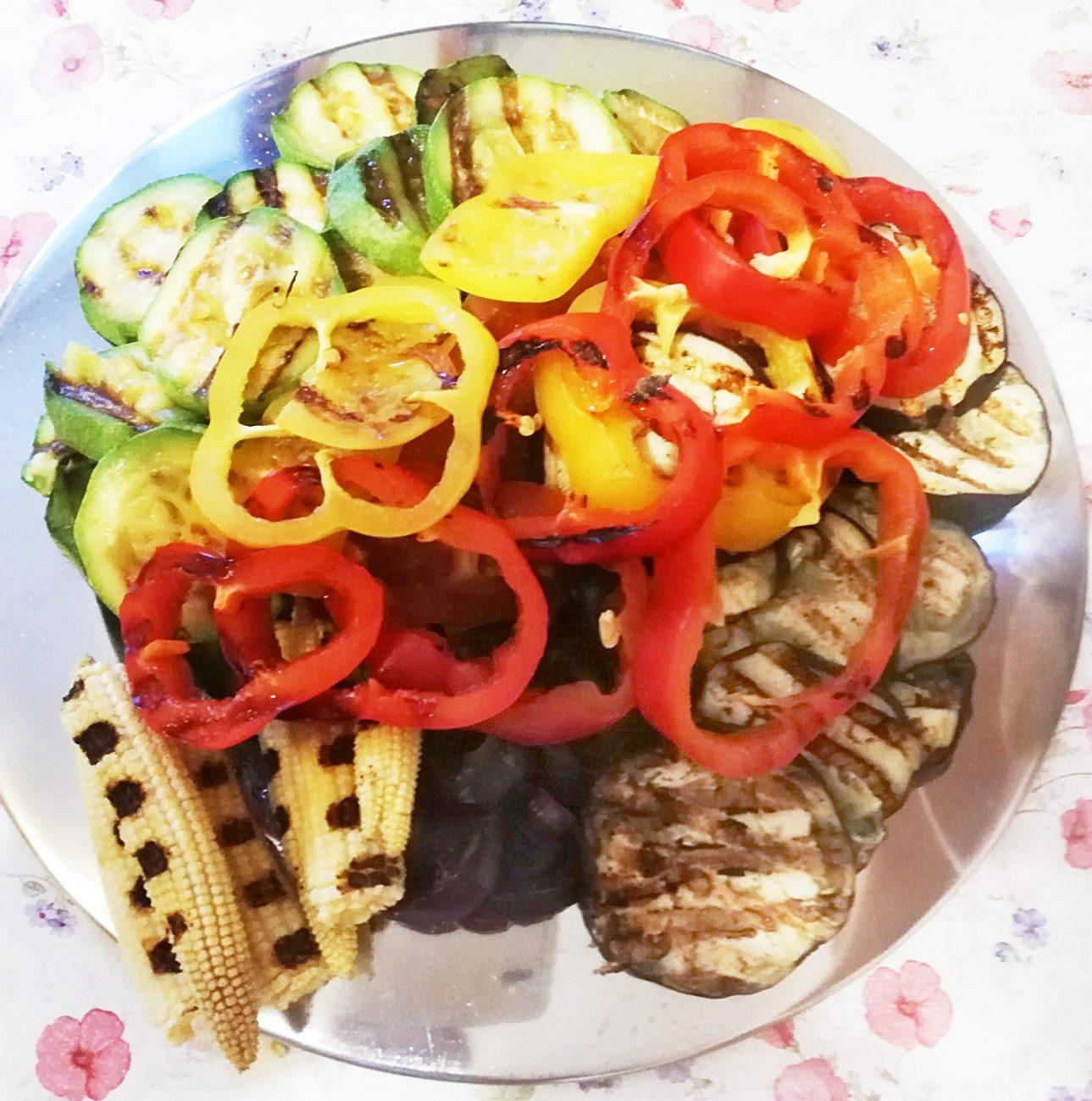 Овощи на гриле без масла