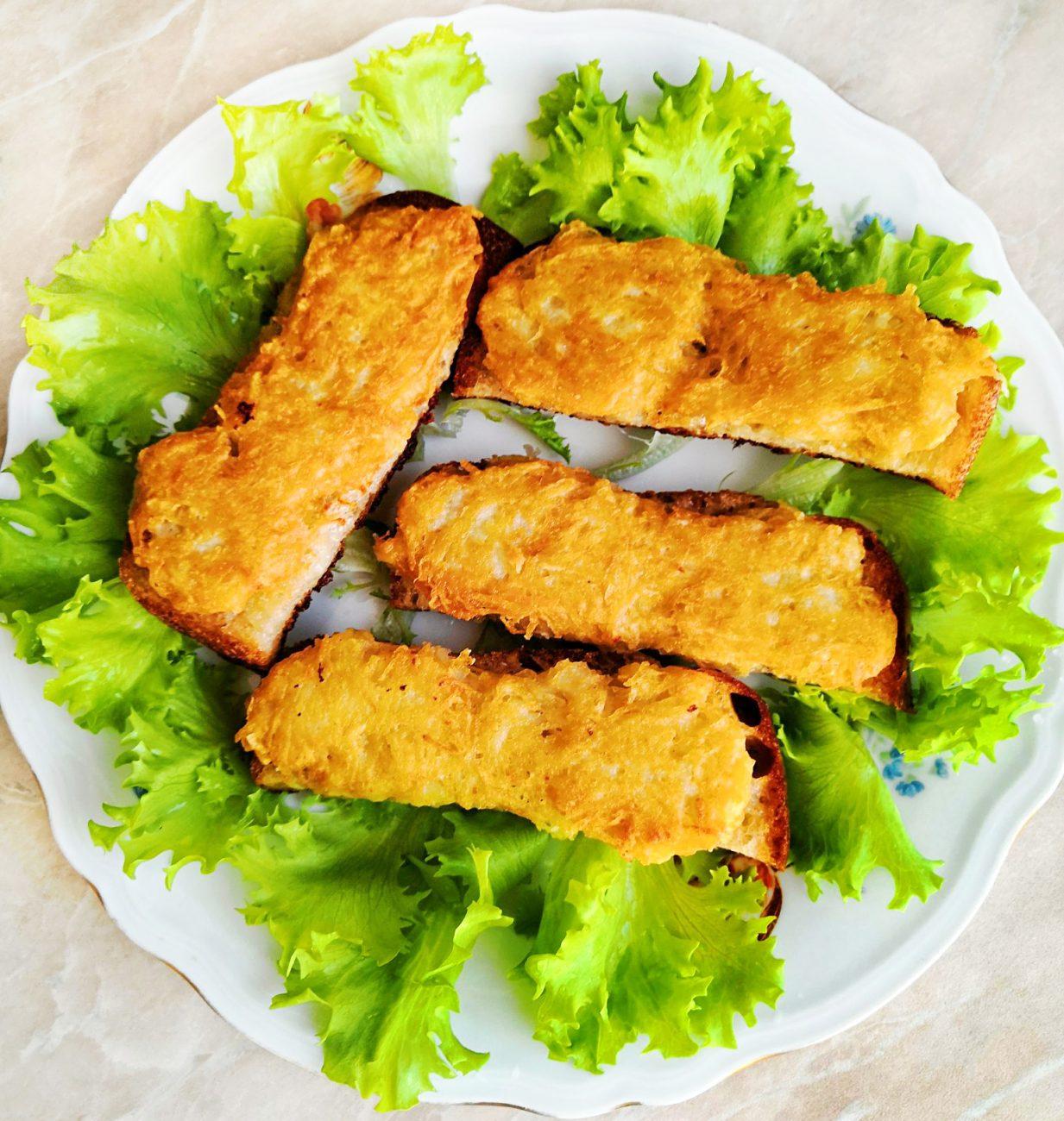 Картофельные драники на хлебе