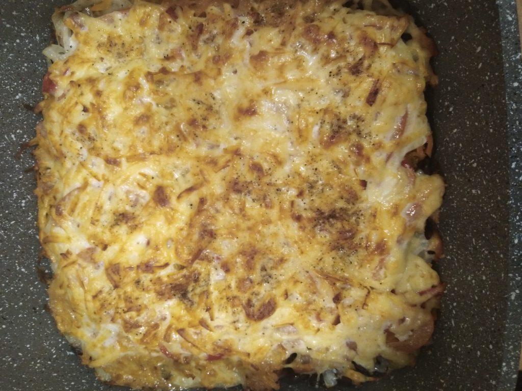 Фото рецепта - Запеченная фасоль с куриной грудкой под сырной шубкой - шаг 8