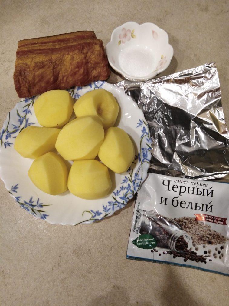Фото рецепта - Картофель, запеченный в беконе (в фольге) - шаг 1