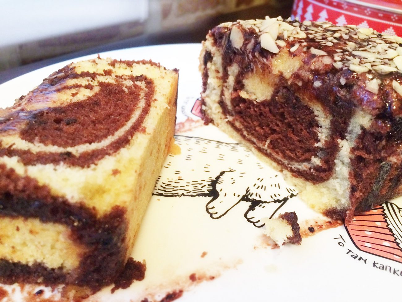 "Мраморный кекс ""Зебра"""